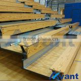 classic wooden telescopic seating tribune telescopic chair grandstand retractable seating grandstand