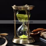Decorative 15/30 Minutes Colorful Metal Sand Timer Hourglass Creative Art Craft Hour Glass                                                                         Quality Choice