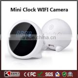 2014 HOT New Mini Clock WIFI Camera Alarm Clock Hidden camera DVR Video recorder Camcorders