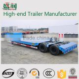 Low Bed Truck Semi Trailer,Lowbed Semi Trailer For Transport Heavy Cargo And Excavator (demension Optional)