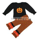 Halloween costume suppliers wholesale halloween chevron clothes black halloween outfit pumpkin outfit