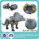 38CM plastic electric dinosaur triceratops toys for kids