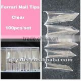 Ferrari french nail art tips three colors