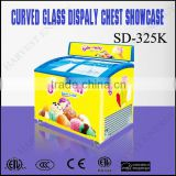 INquiry about SD325K Curved Glass Display Chest Freezer Showcase