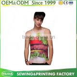 Latest Design 3D printing sublimaiton all over priting tank top for men