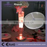 20cm crystal tall flower stand under vase base LED centerpiece light with remote controller