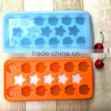 21 Grid BPA Free Baby Food Storage Container Box Platinum Silicone Baby Food Supplement Ice Cube Tray with Lid