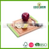 Non-slip Wood bamboo cutting board with silicone edge, bamboo and silicone cutting board