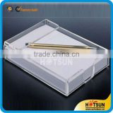 Promotion gift clear acrylic memo pad holder set