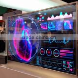 EKAA 65inch transparent LCD display touch screen transparent showcase