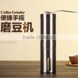 Stainless Steel Manual Coffee Grinder Hand Coffee Bean Grinder Mill Spices Miller with Ceramic Burr Grinding Tool Home Travel