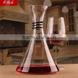 1800ml Clear whiskey glass decanter,unique shaped big capacity red wine decanter wholesale