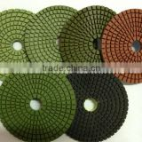 used glass edge polishing machines hardware tool high quality flexible wet diamond polishing pads reserved for marble granite