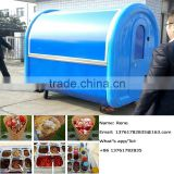 China Supply Kiosk Street Vending Trailer Cart Snacks and Sweets Food Trolley for Sale