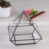 One face opening / Cube Terrarium / Indoor mini Modern Planter / Handmade / For Airplant vintage glass terrarium box
