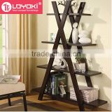 Hot sale wood 4 tier ladder bookshelf high quality home furniture wood book display storage shelf