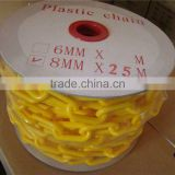 colored Durable recyclable load bearing industry workshop supermarket Plastic Alert link Chain