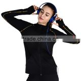 China Factory Women Fitness Wear With Hooded Elastic Breathable Outer Sports Jackets Comfortable