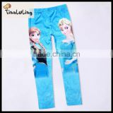 Wholesale autumn 100%cotton printing cartoon leggings for kids
