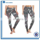 Polyester&Spandex Compression Camo Print Legging Fitness Yoga Pants