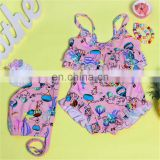 Wholesale little young Girls Swimwear Two Pieces Bikini 2017 Kids New Girls Swimsuit