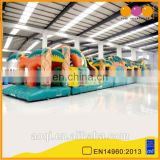 AOQI inflatable outdoor obstacle course for adult and kids
