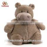 Fluffy custom mini cute hippo forest animal plush stuffed toy