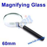 Portable Handheld Stainless Steel 60mm Mini Magnifying Glass Paypal Accept