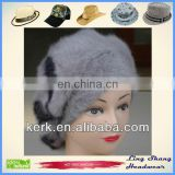 LSA04 Ladies Fashion custom angora wool beanie hats