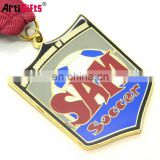 Promotion metal medal with ribbon