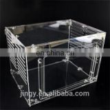 China made acrylic commercial rabbit cages pet display cages