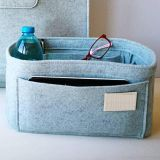grey felt bag insert good selling waterproof organizer bag