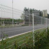 White pvc coated welded wire mesh fencing panels design warehouse wire mesh fence