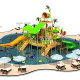 Water Park Equipment Water House for Hotel Kids Pool Resort Aqua Park Design