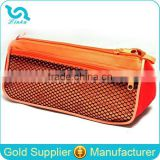 Promotional Cheap Pencil Case For School Orange School Pencil Case With Front Mesh Pocket