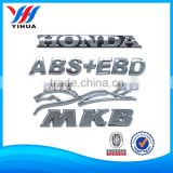 Custom 3d plastic chrome plated car grille emblem badges
