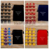 18 pcs polyhedra dice set suit send flannel bag/Dragon and dungeon Dice Set/Millionaire run group dice                                                                         Quality Choice