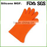 Extra 33cm length silicone household sundries bbq cooking oven gloves