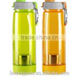 Plastic Water Bottle With Tea Infuser Bottle clamb cling strainer Travel Mug Sports Water Bottle Plastic Water Bottle Drinkware