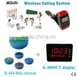 Wireless Customer Service Call System 433.92MHZ Table Call Waiter/Waitress Transmitter With CE Approval