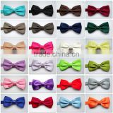 Wholeslale Laides Mens Silk Satin Neck Bow Tie Solid Colour Pre Tied BOT2012