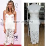 cocktail party wear ladies new model fashion long midi white bustier lace dresses