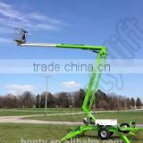 china jack hydraulic drives 14m trailer electric Crank boom lift
