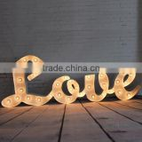 weeding ornament LOVE LED marquee letter
