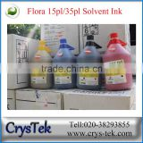 CRYSTEK Hot Wholesale Flora solvent ink for Spectra polaris 512 15pl 35pl print head