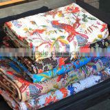 Mix Wholesale 12 Pcs Lot New Bird Print Kantha Quilt Indian Bird Of Paradise Kantha Bed Cover
