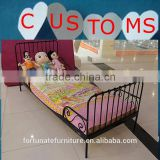 enviromental-friendly powder painting princess lovely black bedroom adjustable length metal bed