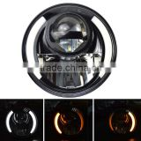 Newest Harley accessories 7 inch Led Headlights With Left / Right Turn Signal DRL For Motorcycle Harley