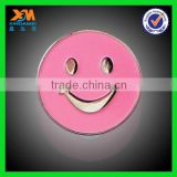 Sales promotion cheap custom metal smiley face badges