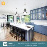 2015 affordable modern kitchen cabinet,wooden blue lacquer kitchen cabinets for dining room furniture